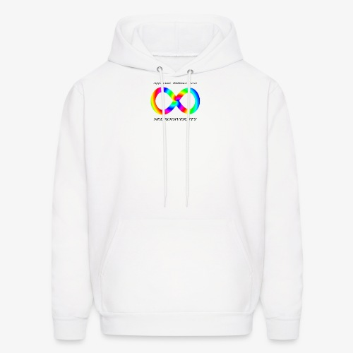 Embrace Neurodiversity with Swirl Rainbow - Men's Hoodie
