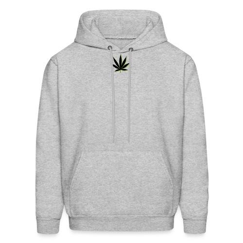 weed symbol drawing leaf - Men's Hoodie
