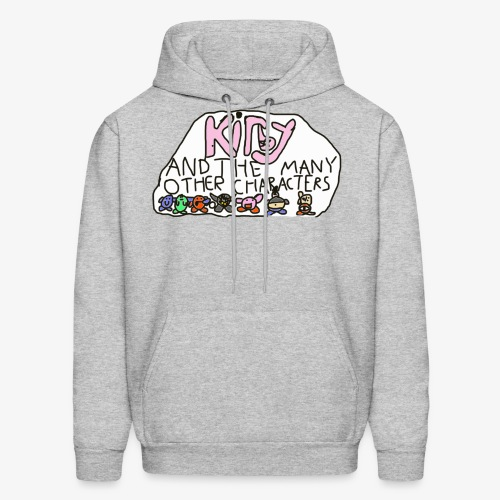 Kirby and the many other characters - Men's Hoodie