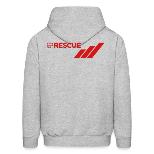 MSAR Red Logo with Stripes - Men's Hoodie