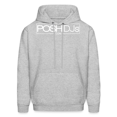 POSH DJs White Logo - Men's Hoodie