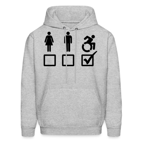 A wheelchair user is also suitable - Men's Hoodie