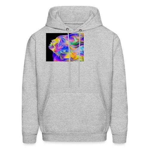 Abstract Contrast Hoodie - Men's Hoodie