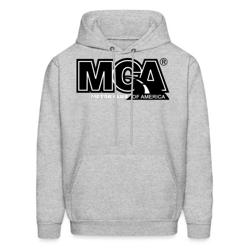 MCA Logo WBG Transparent BLACK TITLEfw fw png - Men's Hoodie