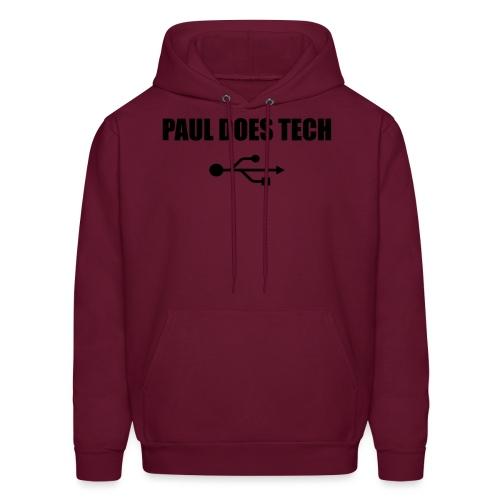 Paul Does Tech Logo Black with USB - Men's Hoodie