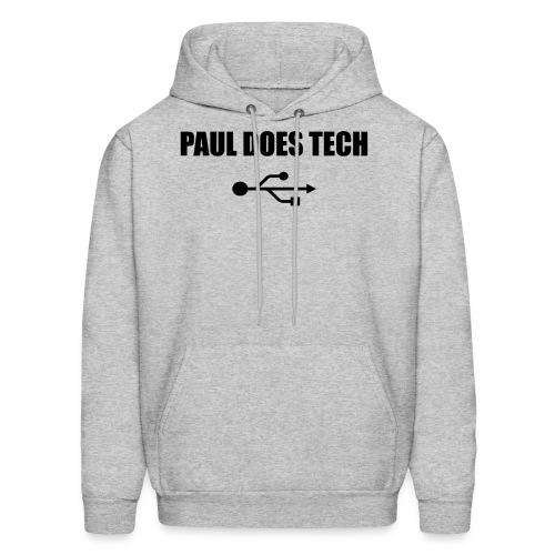 Paul Does Tech Logo Black with USB - Men's Hoodie