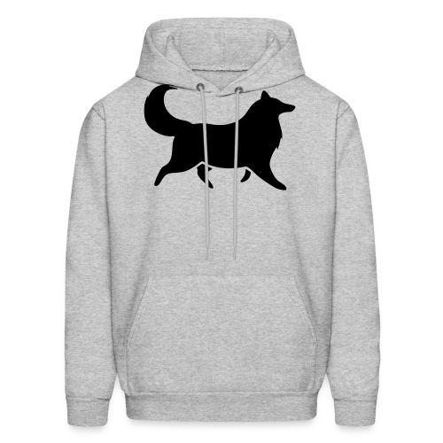 Collie silhouette small - Men's Hoodie