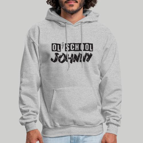 Ol' School Johnny Logo - Black Text - Men's Hoodie