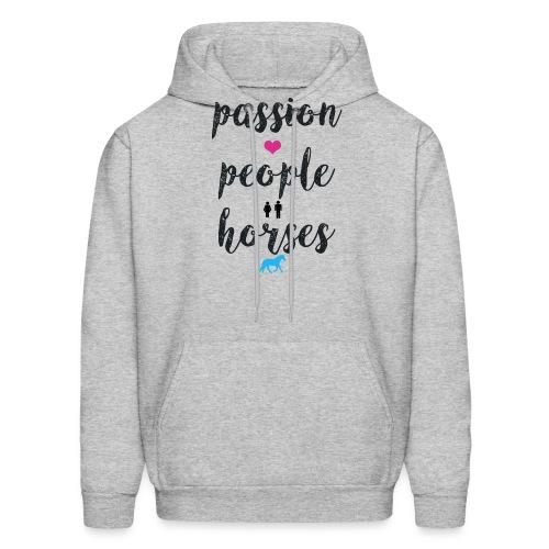 passion people horses - Men's Hoodie