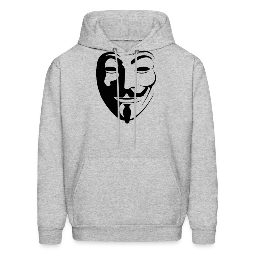 Anonymous Round Face gif - Men's Hoodie