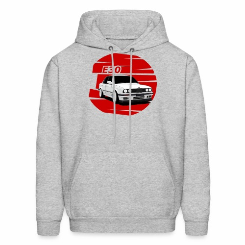 Bimmer e30 red background - Men's Hoodie