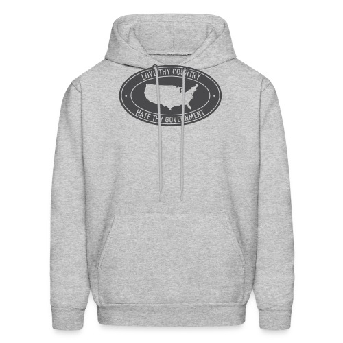 love thy country hate thy government - Men's Hoodie