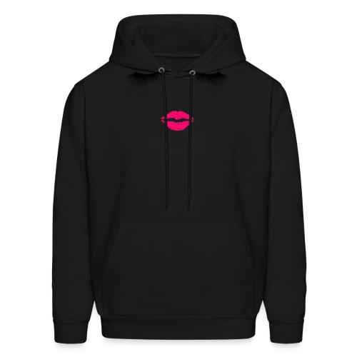 Lipstick and Eyelashes - Men's Hoodie