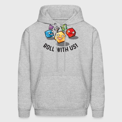 roll with us fantasy dice gamer gift - Men's Hoodie