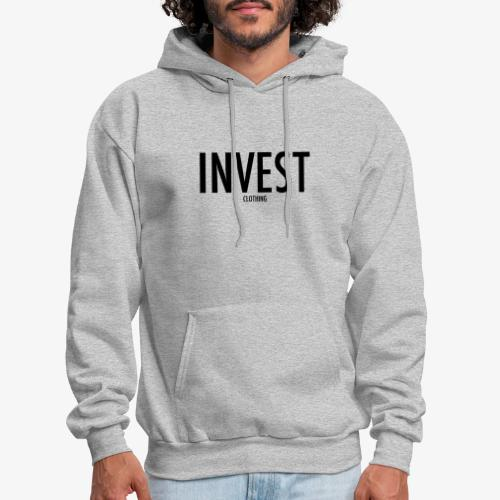invest clothing black text - Men's Hoodie