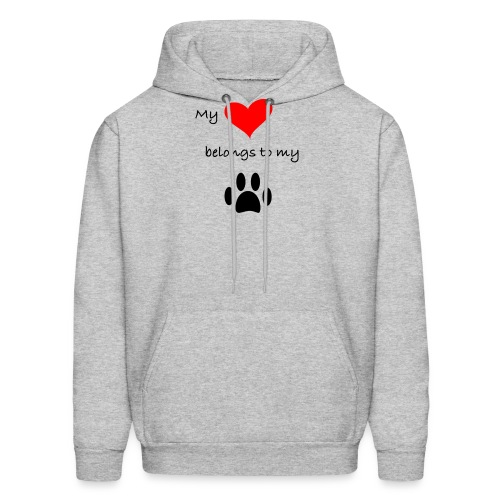Dog Lovers shirt - My Heart Belongs to my Dog - Men's Hoodie