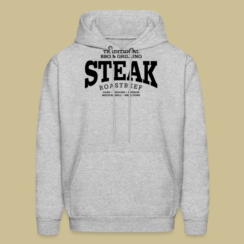 Steak (black) - Men's Hoodie