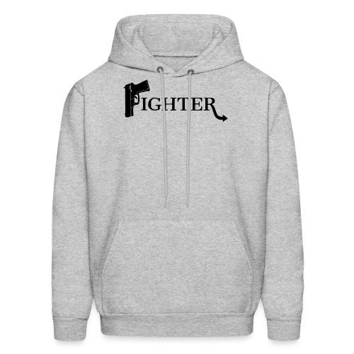 Fighter Solid Black - Men's Hoodie