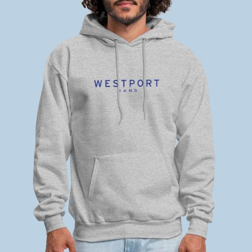 Westport Text Blue on transparent - Men's Hoodie