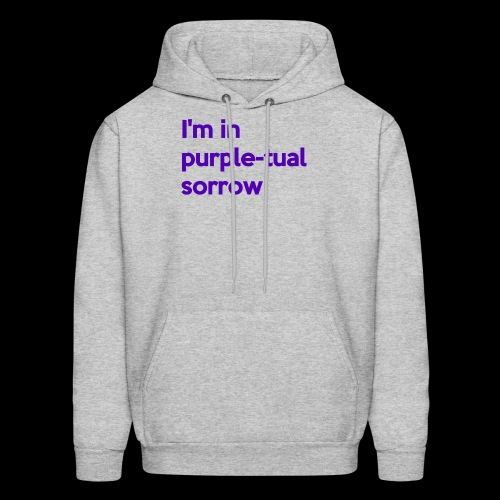 Purple-tual sorrow - Men's Hoodie