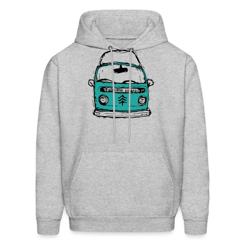 Living The Life In A Hippie Bus - Men's Hoodie