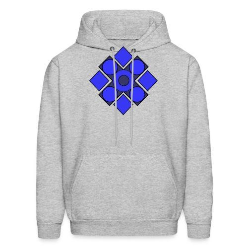 Geometric Cerulean - Men's Hoodie