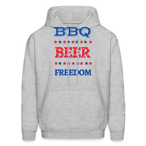 BBQ BEER FREEDOM - Men's Hoodie