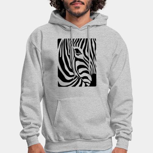 zebra black white - Men's Hoodie