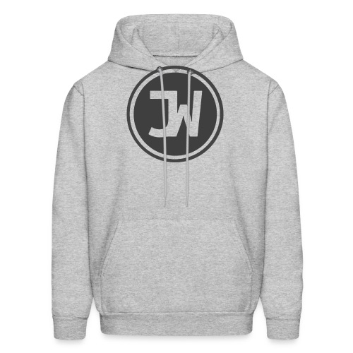 Grey Johannes With Logo - Men's Hoodie