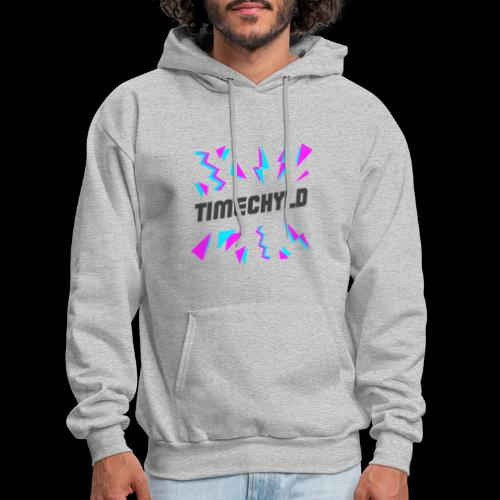 Timechyld Logo with Retro Pattern (Black) - Men's Hoodie