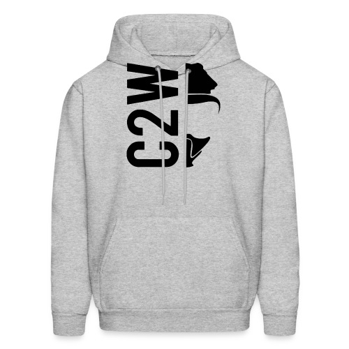 C2W Split Logo - Black - Premium Tee - Men's Hoodie
