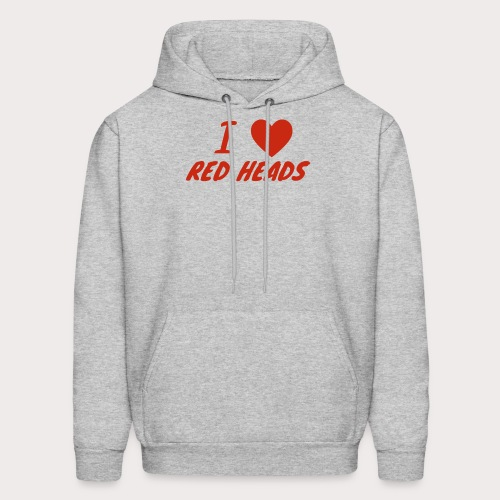 I HEART RED HEADS - Men's Hoodie