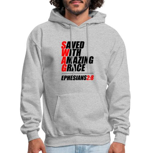 SWAG: Saved With Amazing Grace Christian Shirt - Men's Hoodie