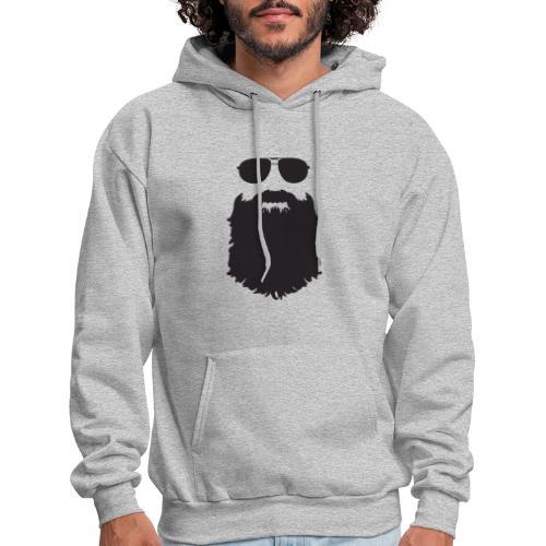 Beardy Silhouette - Men's Hoodie