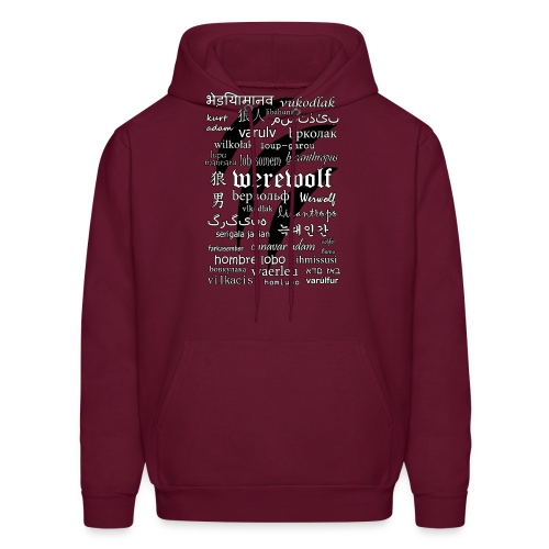 Werewolf in 33 Languages - Men's Hoodie