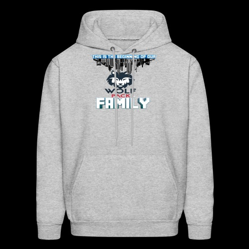 We Are Linked As One Big WolfPack Family - Men's Hoodie