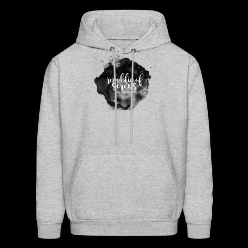ROS FINE ARTS COMPANY - Black Aqua - Men's Hoodie