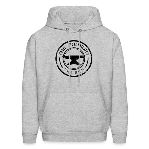 Foundry Church Logo Distressed black 12 in - Men's Hoodie