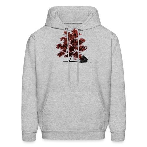 Red Tree design3PNG - Men's Hoodie
