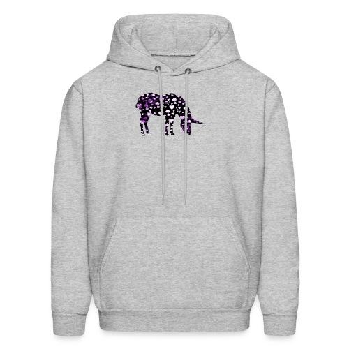 Unicorn Hearts purple - Men's Hoodie