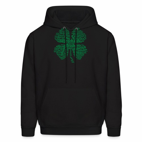 Shamrock Word Cloud - Men's Hoodie