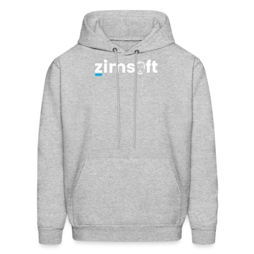 zimsoft white cropped - Men's Hoodie