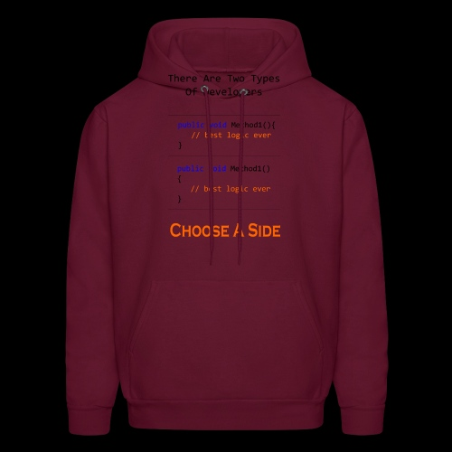 Code Styling Preference Shirt - Men's Hoodie