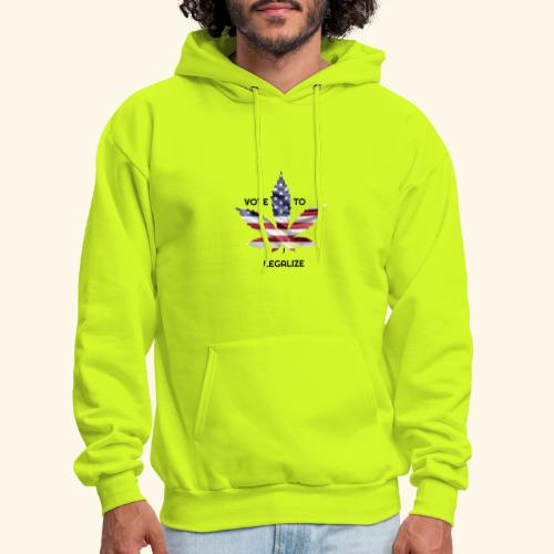 VOTE TO LEGALIZE - AMERICAN CANNABISLEAF SUPPORT - Men's Hoodie
