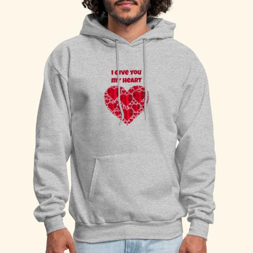 I Give You My Heart valentine - Men's Hoodie