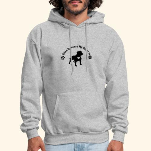 Home Is Where My Heart is Dog Lover Design - Men's Hoodie