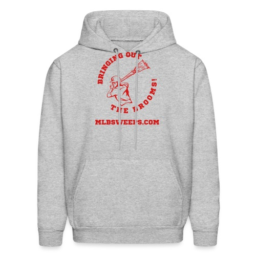 MLB Sweeps Logo and tagline with URL (Light) - Men's Hoodie