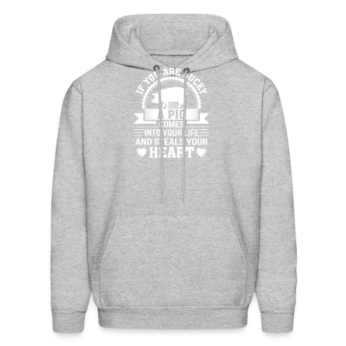 Mini Pig Comes Your Life Steals Heart - Men's Hoodie