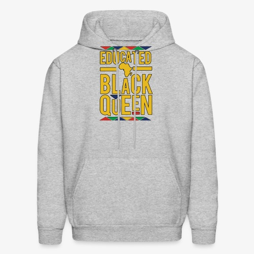 Dashiki Educated BLACK Queen - Men's Hoodie