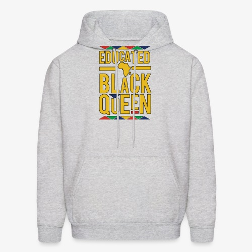 Dashiki Educated BLACK Queen - Men's Hoodie